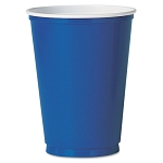 Plastic Party Cold Cups 12 oz. Blue Pack of 50 (SLOM22BPK)