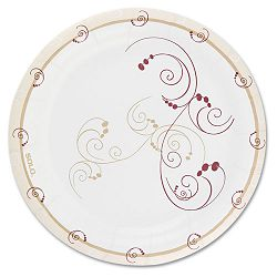 "Symphony Paper Dinnerware Mediumweight Plate 8 12"" Tan 250Pack (SLOMWP9SYMPK)"