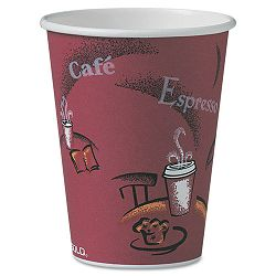 Bistro Design Hot Drink Cups Paper 12 oz. Carton of 300 (SLOOF12BI0041)