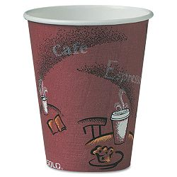 Bistro Design Hot Drink Cups Paper 8 oz. Maroon Carton of 500 (SLOOF8BI0041)