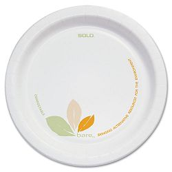 "Bare Paper Dinnerware 6"" Plate GreenTan Carton of 500 (SLOOFMP6J7234)"