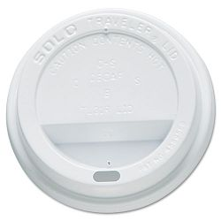 Traveler Drink-Thru Lid White Carton of 300 (SLOOFTL310007)