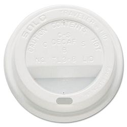 Traveler Drink-Thru Lid White Carton of 500 (SLOOFTL380007)
