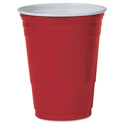 Plastic Party Cold Cups 16 oz. Red Pack of 50 (SLOP16RLR)