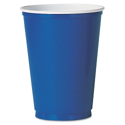 Plastic Party Cold Cups 10 oz. Blue Pack of 50 (SLOPS10BPK)