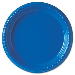 "Plastic Plates 9"" Blue Carton of 500 (SLOPS95B0099CT)"