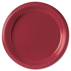 "Plastic Plates 9"" Red 25Pack (SLOPS95R0099PK)"