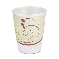 Symphony Design Trophy Foam HotCold Drink Cups Wrapped 9 oz Beige Carton of 900 (SLOWX9J8002)