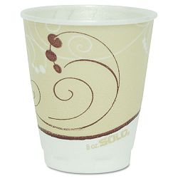 Symphony Design Trophy Foam HotCold Drink Cups 8 oz. Beige Carton of 1000 (SLOX8J8002)