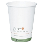 Planet+ Hot Cup 12 oz. White wlogo Carton of 500 (STMPLC12S1)