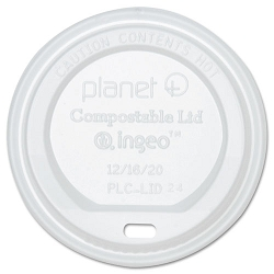Planet+ Hot Cup Lid Translucent For 12 oz Cups Carton of 500 (STMPLCLIDS)
