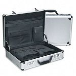 "5"" Attaché Case Aluminum 18"" x 5"" x 13-12"" BlackSilver (BND416020SIL)"