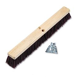 "Floor Brush Head 3 14"" Maroon Stiff Polypropylene 24"" (BWK20324)"