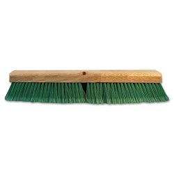 "Push Broom Head 3"" Green Flagged Recycled PET Plastic 18"" (BWK20718)"