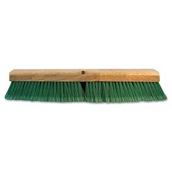 "Push Broom Head 3"" Green Flagged Recycled PET Plastic 24"" (BWK20724)"