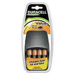 Value Charger 4 Pre-Charged Rechargeable AA NiMH Batteries (DURCEF14NC)