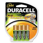 Coppertop NiMH Pre-Charged Rechargeable Battery AAA Pack of 4 (DURDX2400B4N001)