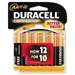 Coppertop Alkaline Batteries AA Pack of 12 (DURMN15RT12Z)