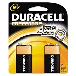 Coppertop Alkaline Batteries 9V Pack of 2 (DURMN1604B2Z)