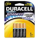 Ultra Advanced Alkaline Batteries AAA Pack of 4 (DURMX2400B4Z)