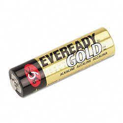 Gold Alkaline Batteries AA 12 BatteriesPack (EVEA91BP12H)