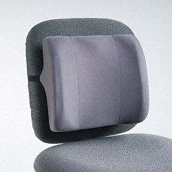 "High-Profile Backrest with Soft Brushed Cover 13""w x 4""d x 12-58""h Graphite (FEL91926)"