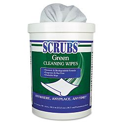 Cleaning Wipes 6 x 10-12 Green 90Container (ITW91828)
