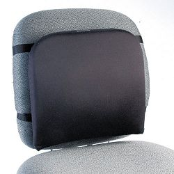 "Memory Foam Backrest 13-14""w x 1-34""d x 14-14""h Black (KMW82025)"