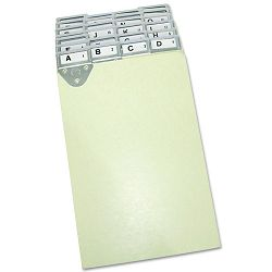 Expandi-Matic PostingLedger Tray Metal Tab Index Pressboard 6 x 9 Pack of 25 (MAT14254)