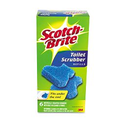 Disposable Toilet Bowl Scrubber Kit Refill 6 ScrubbersPack (MMM557RF6)