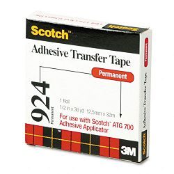 "Adhesive Transfer Tape 12"" Wide x 36 Yards (MMM92412)"