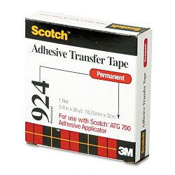 "Adhesive Transfer Tape Roll 34"" Wide x 36 Yards (MMM92434)"