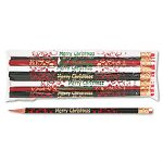 Decorated Wd Pencil Merry Christmas #2 BLKGNRDWE Barrel Dozen (MPD7921B)