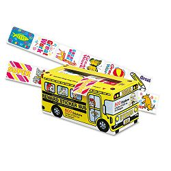 Big School Bus Reward Stickers Assorted Designs 800 Stickers Pack of 6 (PAC0051450)