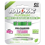 Platinum Rechargeable NiMH Batteries C 2 per Pack (RAYPL7142GEN)