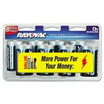 Alkaline Batteries D Pack of 8 (RAY8138CD)