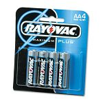 Maximum Plus Alkaline Batteries AA Pack of 4 (RAY8154E)