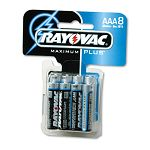 Maximum Plus Alkaline Batteries AAA Pack of 8 (RAY8248C)