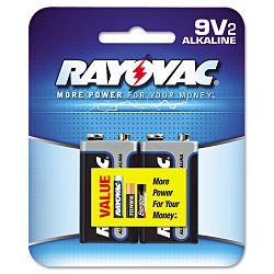 Alkaline Batteries 9V Pack of 2 (RAYA16042D)
