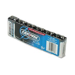 Industrial PLUS Alkaline Batteries 9V Pack of 6 (RAYAL9V)
