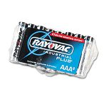 Industrial PLUS Alkaline Batteries AAA Pack of 8 (RAYALAAA)