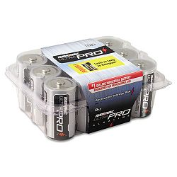 Industrial PLUS Alkaline Batteries D Pack of 12 (RAYALD12)
