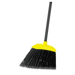 "Lobby Pro Broom Poly Bristles 28"" Metal Handle BlackYellow (RCP637400BLA)"
