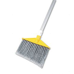 "Angled Large Brooms Poly Bristles 48-78"" Aluminum Handle SilverGray (RCP6385GRA)"