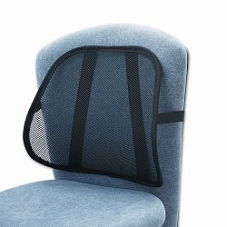 "Mesh Backrest 17-12""w x 3-18""d x 15""h Black (SAF7153BL)"