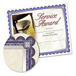 "Foil-Enhanced Certificates with CD 8-12"" x 11"" Silver Border Pack of 15 (SOUCT1)"
