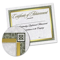 "Foil-Enhanced Certificates with CD 8-12"" x 11"" Gold Border Pack of 15 (SOUCT2)"