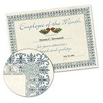 "Parchment Paper Certificates with CD 8-12"" x 11"" Green Border Pack of 25 (SOUCT3)"