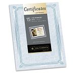 "Foil-Enhanced Certificates 8-12"" x 11"" Blue with Silver Border Pack of 15 (SOUCT6R)"