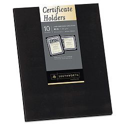 Certificate Holder 12 x 9-12 Black Pack of 10 (SOUPF18)